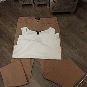 Ralph Lauren pants and tank top